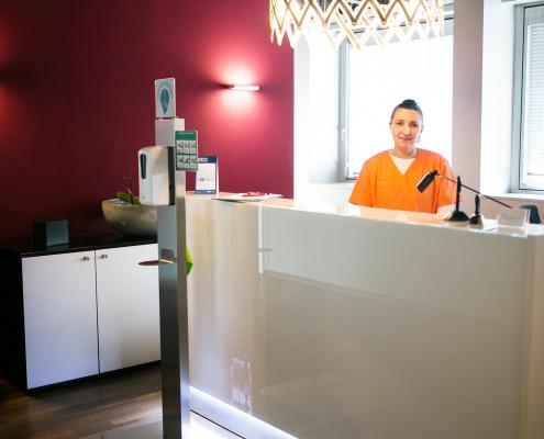 Empfang - Zahnarztpraxis Dr. Baudermann